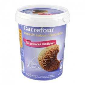 Carrefour helado chocolate sin azucar de 50cl.
