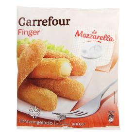 Carrefour finger mozzarella de 450g.