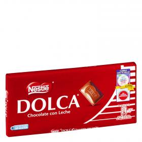 Dolca chocolate con leche tableta de 125g.