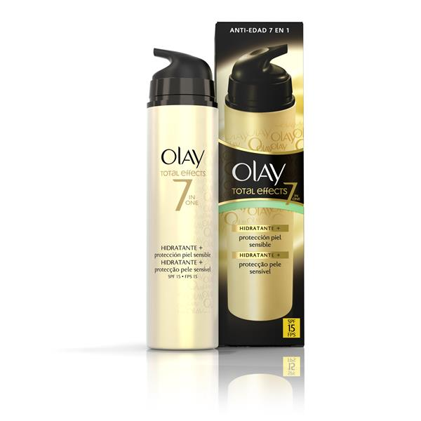 Olay crema hidratante p15 total effects dosificador de 50ml.