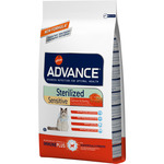 Advance sterilized sensitive alimento alta gama gatos esterilizados con salmon cebada de 10kg. en bolsa