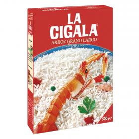 La Cigala arroz largo de 500g.