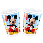 Mickey vaso decorado 8 de 20cl. en paquete