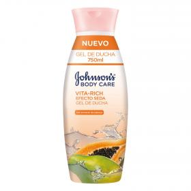 Johnson's gel ducha baño con extracto papaya efecto seda vita rich de 75cl.