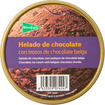 El Corte Ingles helado chocolate con trozos chocolate belga de 50cl. en tarrina