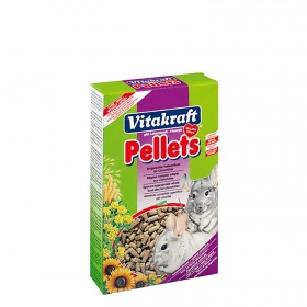El Menu pellets chinchillas de 1kg.