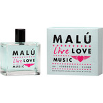 O Live malu music eau toilette natural femenina de 10cl. en spray