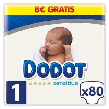 Dodot Sensitive pañales sensitive talla 1 und 80 ud 80