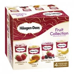 Häagen Dazs fruit collection s helado sabores fruta estuche de 40cl. por 4 unidades en tarrina