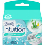 Wilkinson recambio maquinilla intuition naturals aloe vitamina sensitive care estuche por 3 unidades