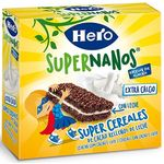 Hero barritas cereales muesly chocolate con leche de 110g.