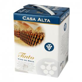Vino mesa tinto bag in box casa alta de 3l.