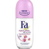 Fa desodorante natural & pure flor rosas roll on de 50ml.