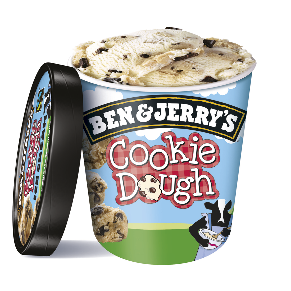 Ben & Jerry's cookie dough helado vainilla con cookies chocolate de 50cl. en tarrina