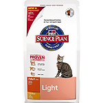 Hill's Science plan adult light alimento especial gatos adultos con pollo ayudar mantener peso ideal de 1,5kg. en bolsa