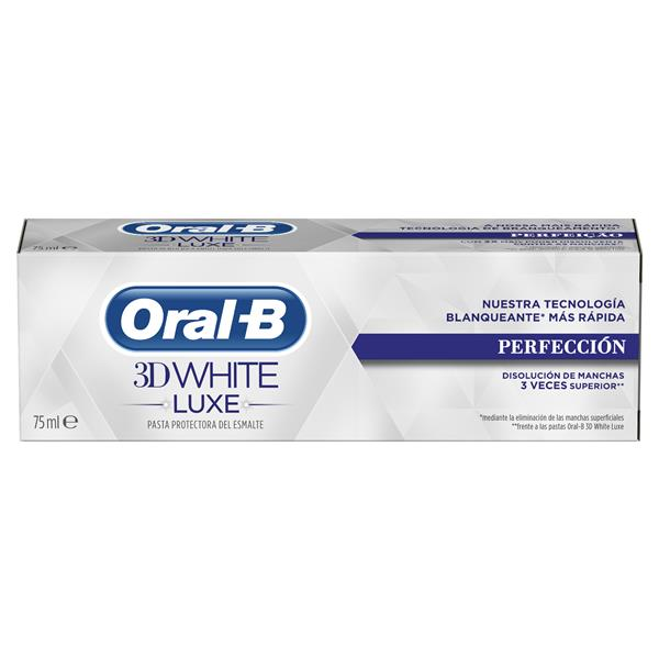 Oral B 3d white luxe pasta dientes perfeccion tubo de 75ml.