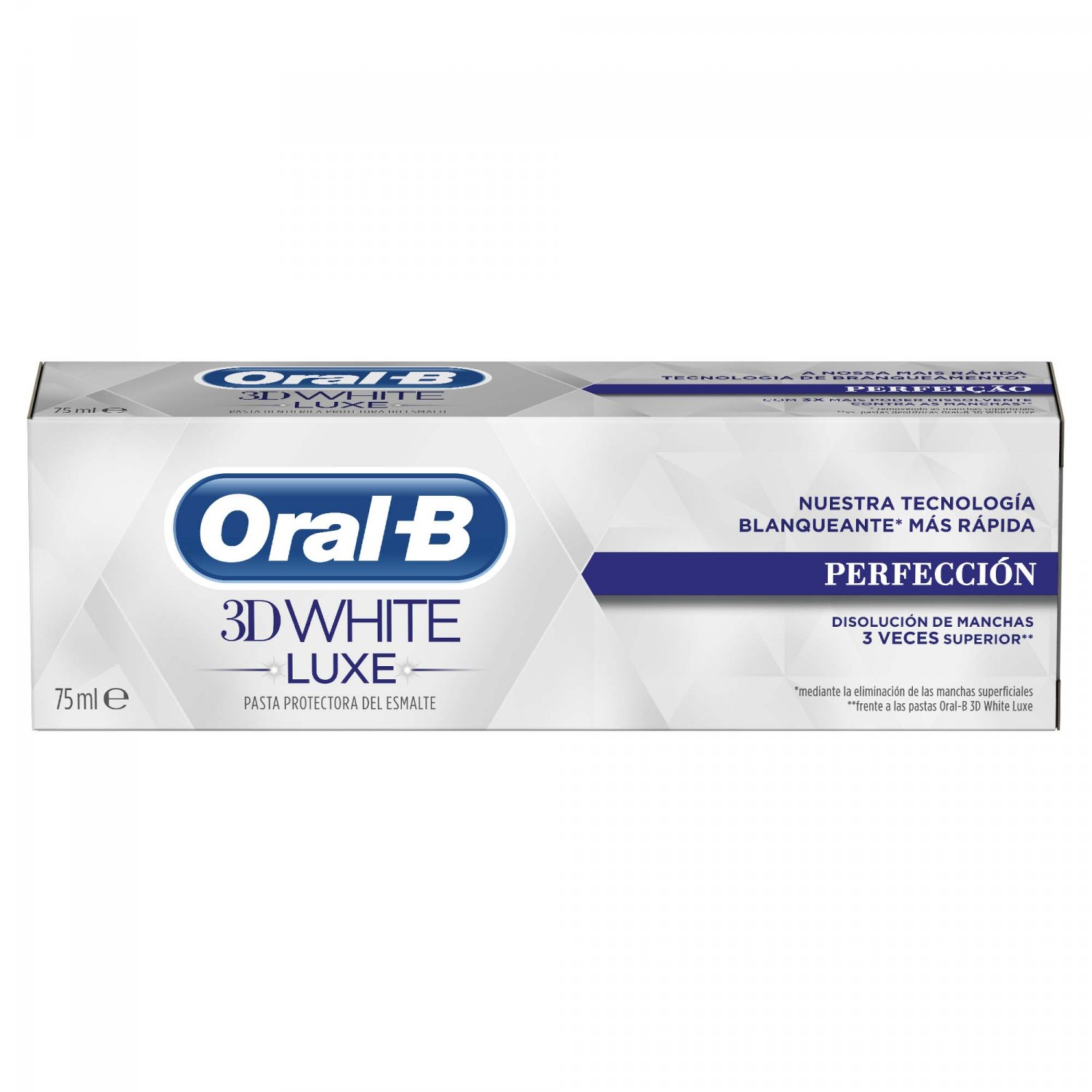 Oral B 3d white luxe pasta dientes perfeccion tubo tubo de 75ml.