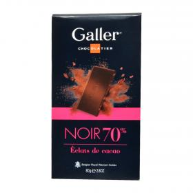 Chocolate negro 70% galler de 80g.