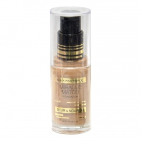 El Miracle maquillaje match nº 77 soft honey max fp de 30ml.