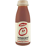 Innocent pure fruit smoothie zumo suave fresa platano de 25cl. en botella