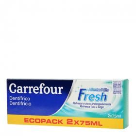Carrefour dentifrico aliento fresco de 75ml. por 2 unidades