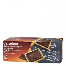 Carrefour galleta tableta chocolate negro de 150g.