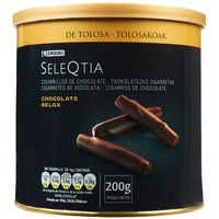 Eroski Seleqtia cigarrillo chocolate de 200g. en lata