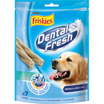Friskies dental fresh sticks higiene dental perros razas medias grandes 10 kg de 180g. en paquete