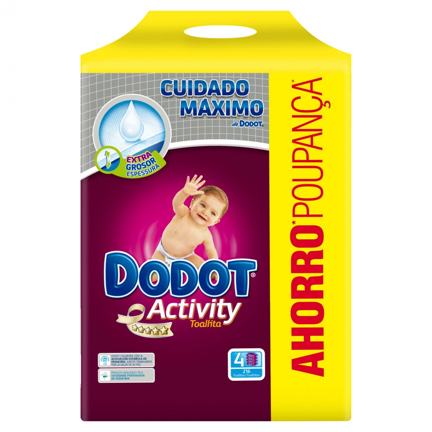 Dodot Activity toallitas recambio cuatro pack 216