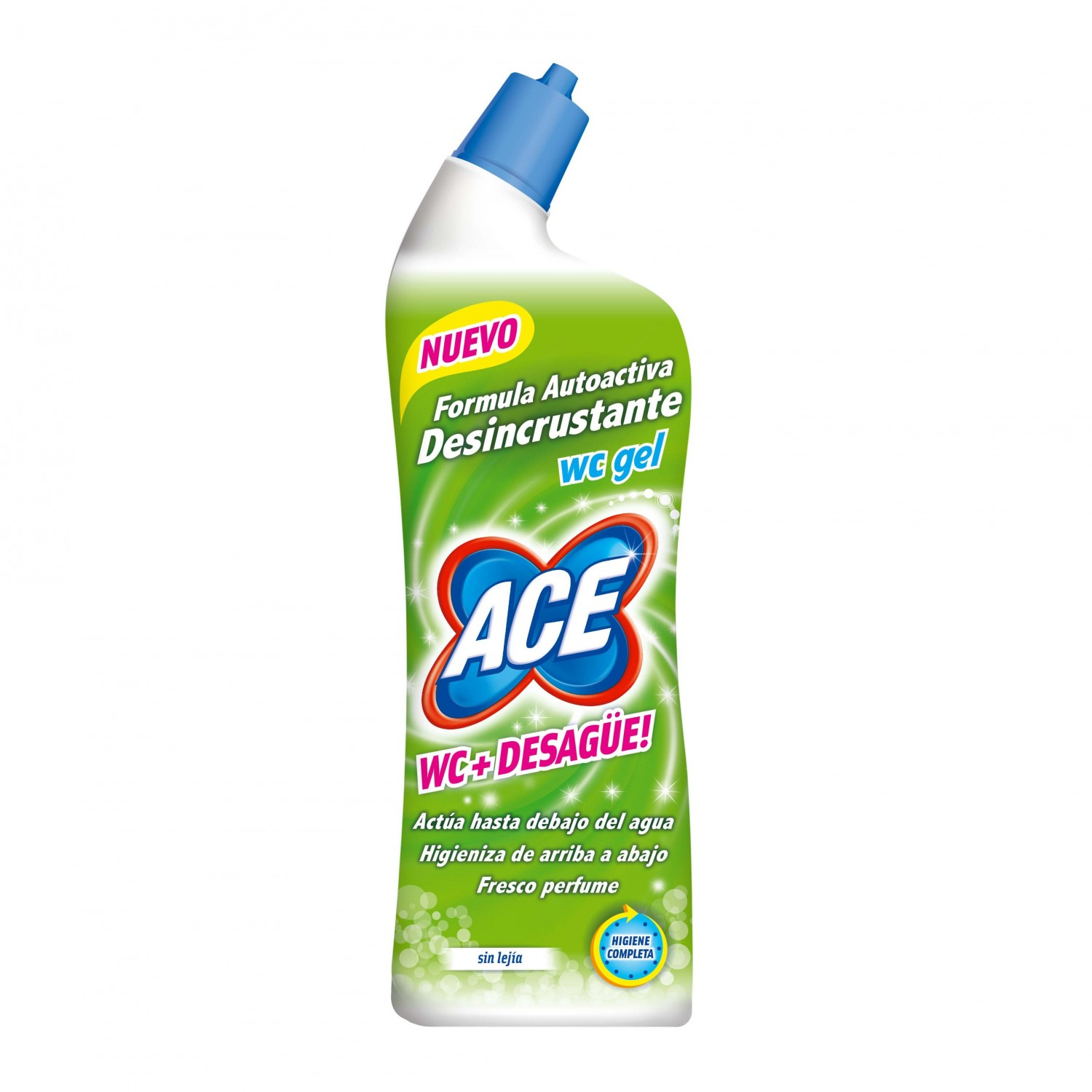 Ace desinfectante wc gel dessincrustante sin lejia de 70cl. en botella