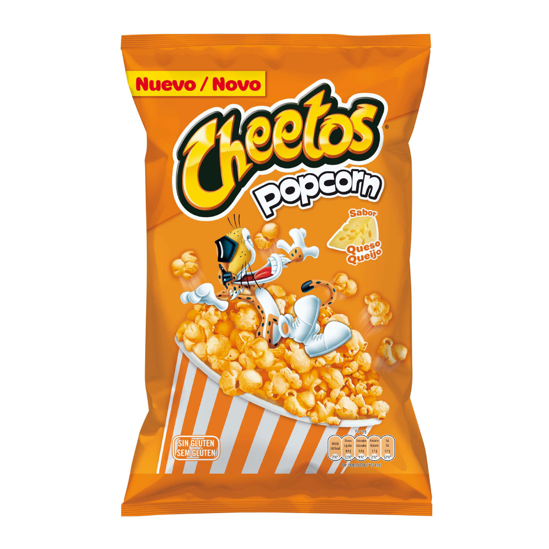Cheetos palomitas sabor queso de 90g.