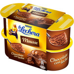 La Lechera mousse chocolate de 59g. por 4 unidades