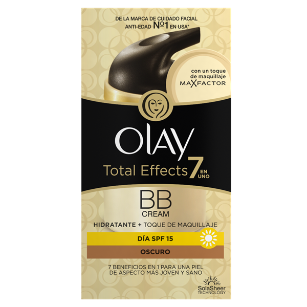 Olay tot effects crema dia antiedad 7 en 1 con un color intenso spf 15 de 50ml. en bote