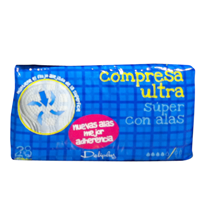 Deliplus compresa absorcion super ultra plegada alas 28