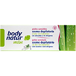 Body Natur sensitive crema depilatoria al aloe vera balsamico pieles sensibles tubo de 10cl.