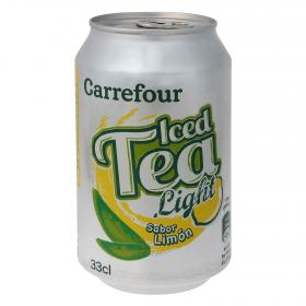 Carrefour bebida refrescante te al limon light de 33cl.