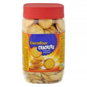 Carrefour galletas saladas crackers redondas de 350g.