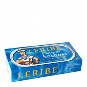 Filetes de anchoa en aceite vegetal leribe de 22g.