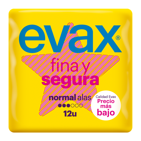 Evax fina&segura normal con ala 12