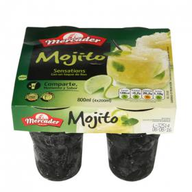 Mercader cocktail mojito sensations de 20cl. por 4 unidades