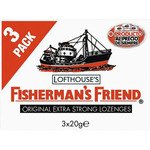 Fisherman's Friends fishermans friend original extra fuerte chicles x de 60g. por 3 unidades