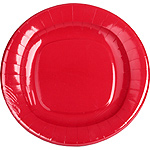 Nv plato color rojo 23 cm 8 en paquete