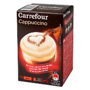 Carrefour cafe cappuccino soluble clasico de 147g.