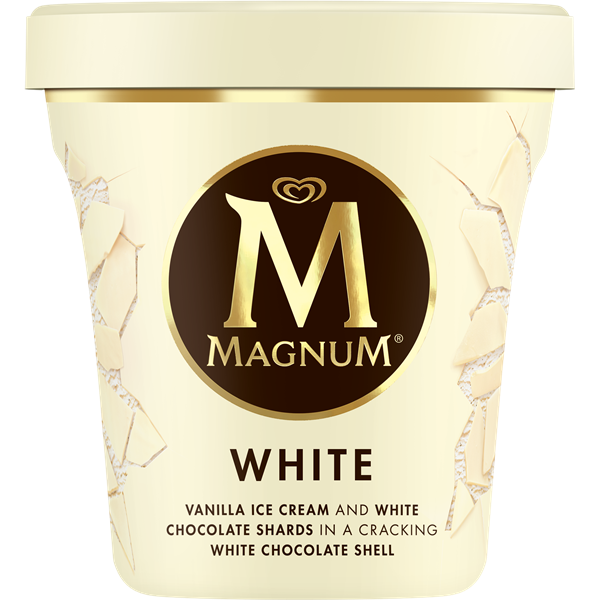 Magnum magnum tarrinas blanco 440ml de 44cl. en tarrina