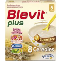 Blevit papilla 8 cereales plus superfibra de 600g.
