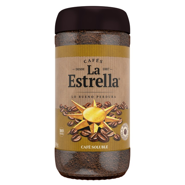 La Estrella cafe soluble natural de 200g.