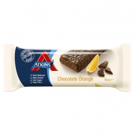 Atkins barrita chocolate naranja de 60g.