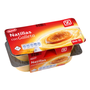 Dia natillas con galleta de 125g. por 4 unidades