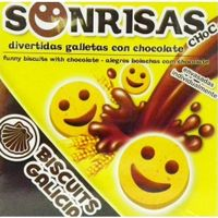 Biscuits Galicia sonrisas chocolate biscuits galicia de 75g.