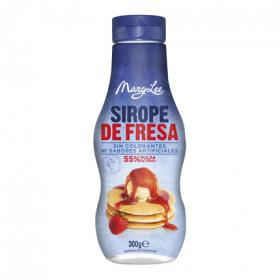 Mary Lee sirope fresa sin colorantes envase de 300g.